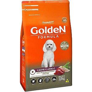 Golden Fórmula Adultos - Carne/Arroz Mini B 3kg