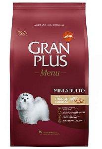 Gran Plus Cães Adultos - Menu Mini Frango 3kg