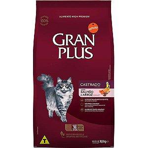 Gran Plus Gatos Castrados - Salmão/Arroz 10X1kg