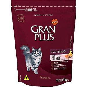 Gran Plus Gatos Castrados - Salmão/Arroz 3kg