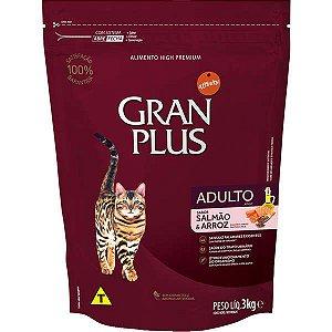 Gran Plus Gatos Adultos - Salmão 3kg