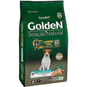 Golden Seleção Natural Adultos - Raças Pequenas - Frango/Arroz 10kg