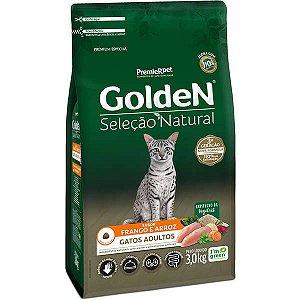 Golden Seleção Natural Gatos Adultos - Frango/Arroz 3kg