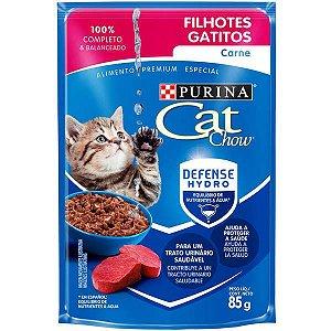 Cat Chow Sachê Filhote Carne Molho 85g
