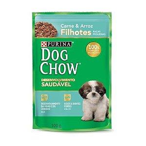 Dog Chow Sachê Filhote Raças Pequenas Carn/Arroz 100g
