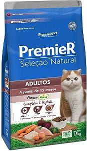 Premier Gato Seleção Natural Adultos - 7,5kg