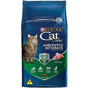 Cat Chow Adultos - Ambientes Internos -  Frango 3kg
