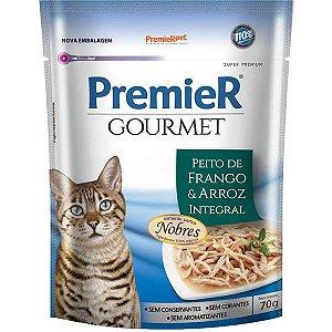 Premier Sachê Gato Gourmet Frango/Arroz 70g