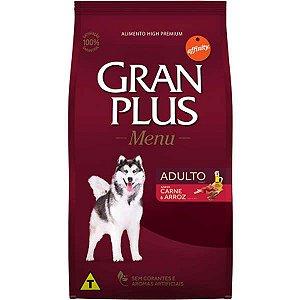Gran Plus Cães Adultos - Menu Carne/Arroz 20kg