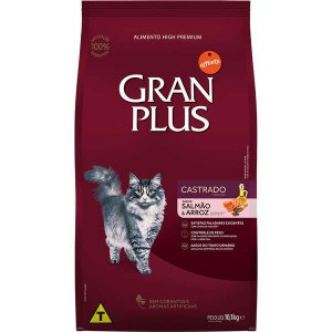 Gran Plus Gatos Castrados - Salmão/Arroz 10,1kg