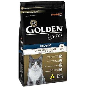 Golden Fórmula Gato - Castrado - Sênior Frango 3kg