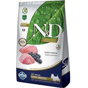 N&D Prime Adultos - Mini Cordeiro/Blueberry 2,5kg