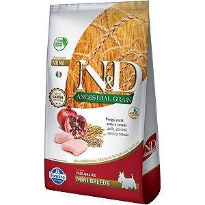 N&D Ancestral Grain Adultos - Mini Frango/Romã 10,1kg