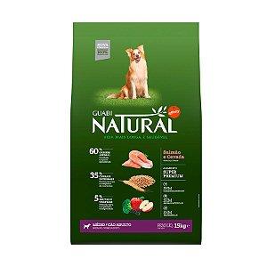 Guabi Natural Cães Adultos - Médio Salmão E Cevada 15kg