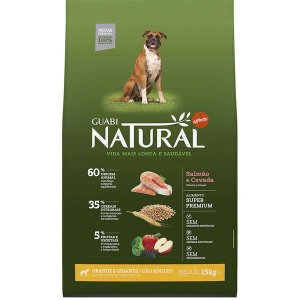 Guabi Natural Cães Adultos - GG Salmão E Cevada 15kg