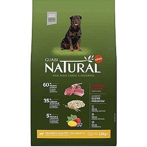 Guabi Natural Cães Adultos - GG Cordeiro E Aveia 15kg