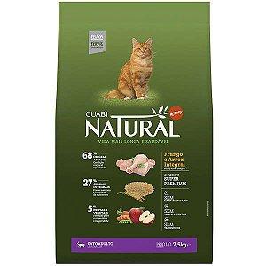 Guabi Natural Gatos Adultos - Frango E Arroz Integral 7,5kg