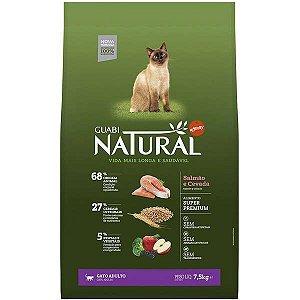 Guabi Natural Gatos Adultos - Salmão E Cevada 7,5kg
