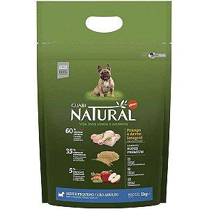 Guabi Natural Cães Adultos - Porte Mini E Pequeno - Frango E Arroz Integral 1kg