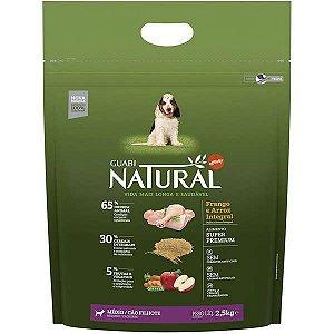 Guabi Natural Frango E Arroz Integral Para Cães Filhotes Raças Média 2,5kg