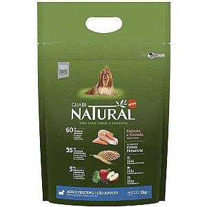 Guabi Natural Cães Adultos - Porte Mini E Pequeno - Salmão E Cevada Integral 1kg