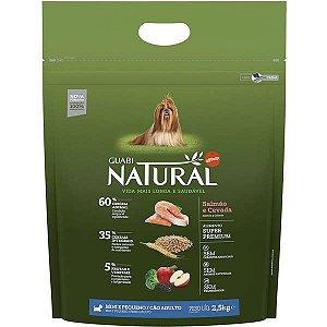Guabi Natural Cães Adultos - Porte Mini E Pequeno - Salmão E Cevada 2,5kg