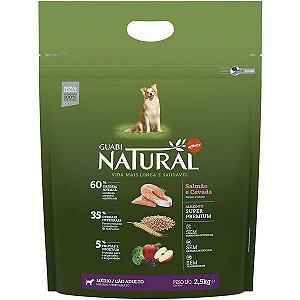 Guabi Natural Cães Adultos - Médio Salmão E Cevada 2,5kg