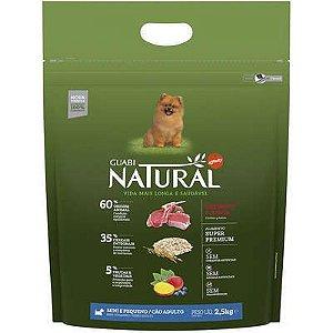 Guabi Natural Cães Adultos - Porte Mini E Pequeno - Cordeiro E Aveia 2,5kg