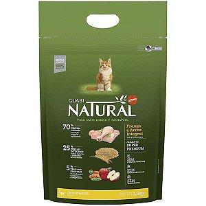 Guabi Natural Gato Filhote Frango e Arroz Integral 1,5kg