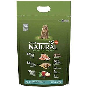 Guabi Natural Gato Castrado - Salmão E Cevada 1,5kg