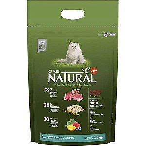 Guabi Natural Cordeiro E Aveia Para Gatos Adultos - Castrado 1,5kg