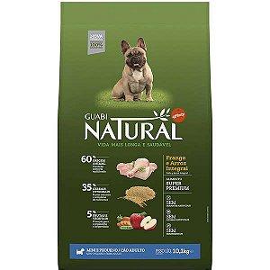 Guabi Natural Frango E Arroz Integral Para Cães Adultos - Raças Mini E Pequena 10,1kg