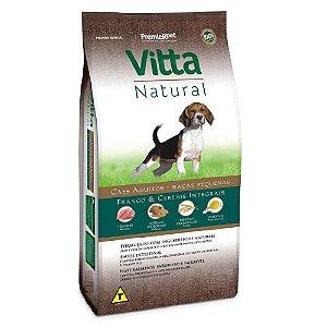 Vitta Natural Adultos - Raças Pequenas - Frango/Cereais 15 kg