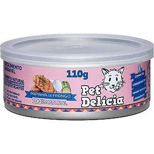 Pet Delícia Gato Papinha Frango 110g