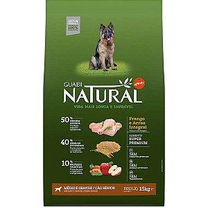 Guabi Natural Cão Sênior M/G Frango E Arroz 15kg