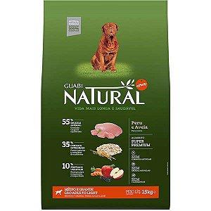 Guabi Natural Cães Adultos - Light M E G Peru E Aveia 15kg