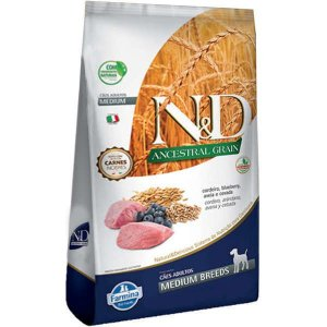 N&D Ancestral Cordeiro/Blueberry Adultos - Medium 10,1kg