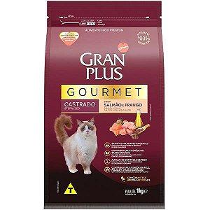 Gran Plus Gato Gourmet - Castrado - Salmão Frango 1kg