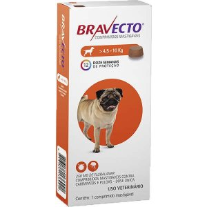 Bravecto Cães 250mg 4,5-10kg