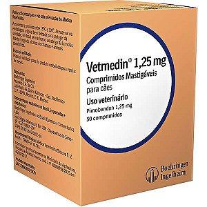 Vetmedin 1,25mg C/50 Comprimidos