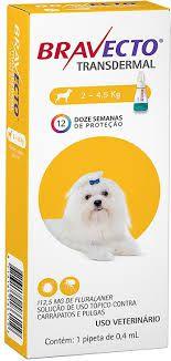 Bravecto Transdermal Cães 112,5mg ( 2,4 - 5kg)