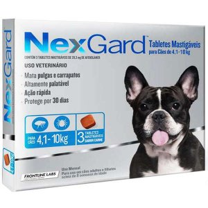 Nexgard Médio 1,25g 4,1-10kg Caixa C/3
