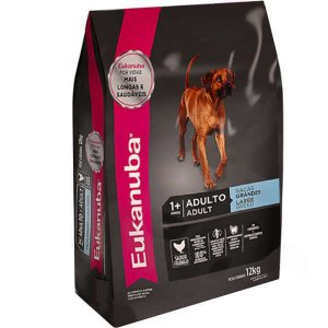 Ração Eukanuba Para Cães Adultos - De Raças Grandes - 12 kg
