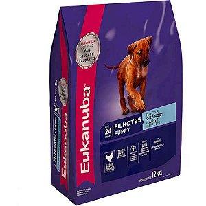 Ração Eukanuba Para Cães Filhotes De Raças Grandes - 12 kg
