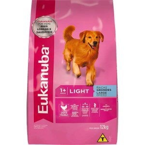 Ração Eukanuba Light Para Cães De Raças Grandes - 12 kg