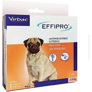 Antipulgas E Carrapatos Virbac Effipro 0,67 ml Cães De 2 Até 10 kg 1 Unidade