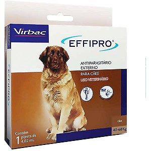 Antipulgas E Carrapatos Virbac Effipro 4,02 ml Cães De 40 Até 60 kg 1 Unidade