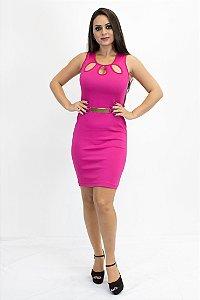 Vestido gota com fivela pink