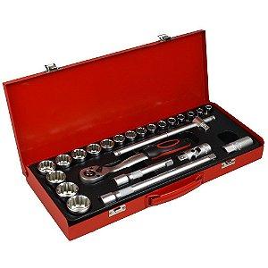 Soquete Multidentado de 1/2 Pol. com 25 Peças 673815 - Lee Tools