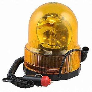 Luz de Emergência Giroflex Amarela Redonda